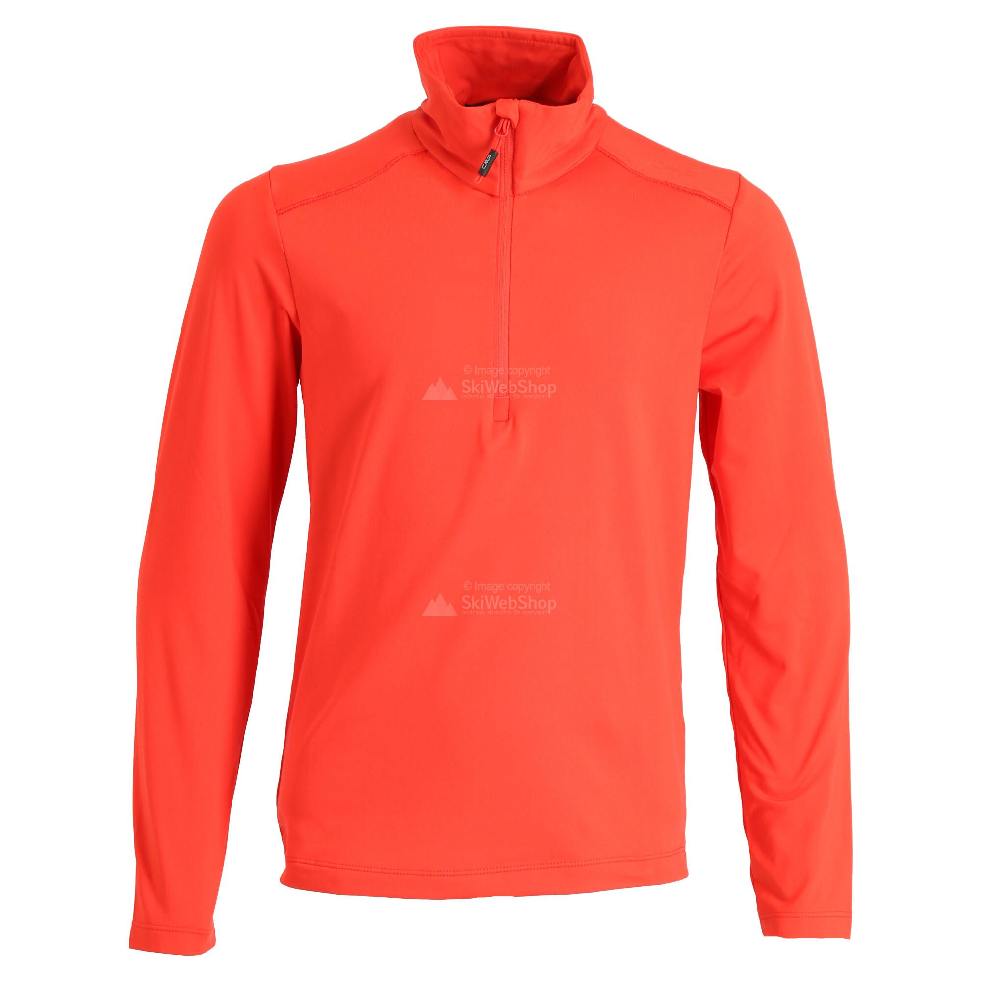 cmp, half zip shirt, pullover, kinder, tango orange