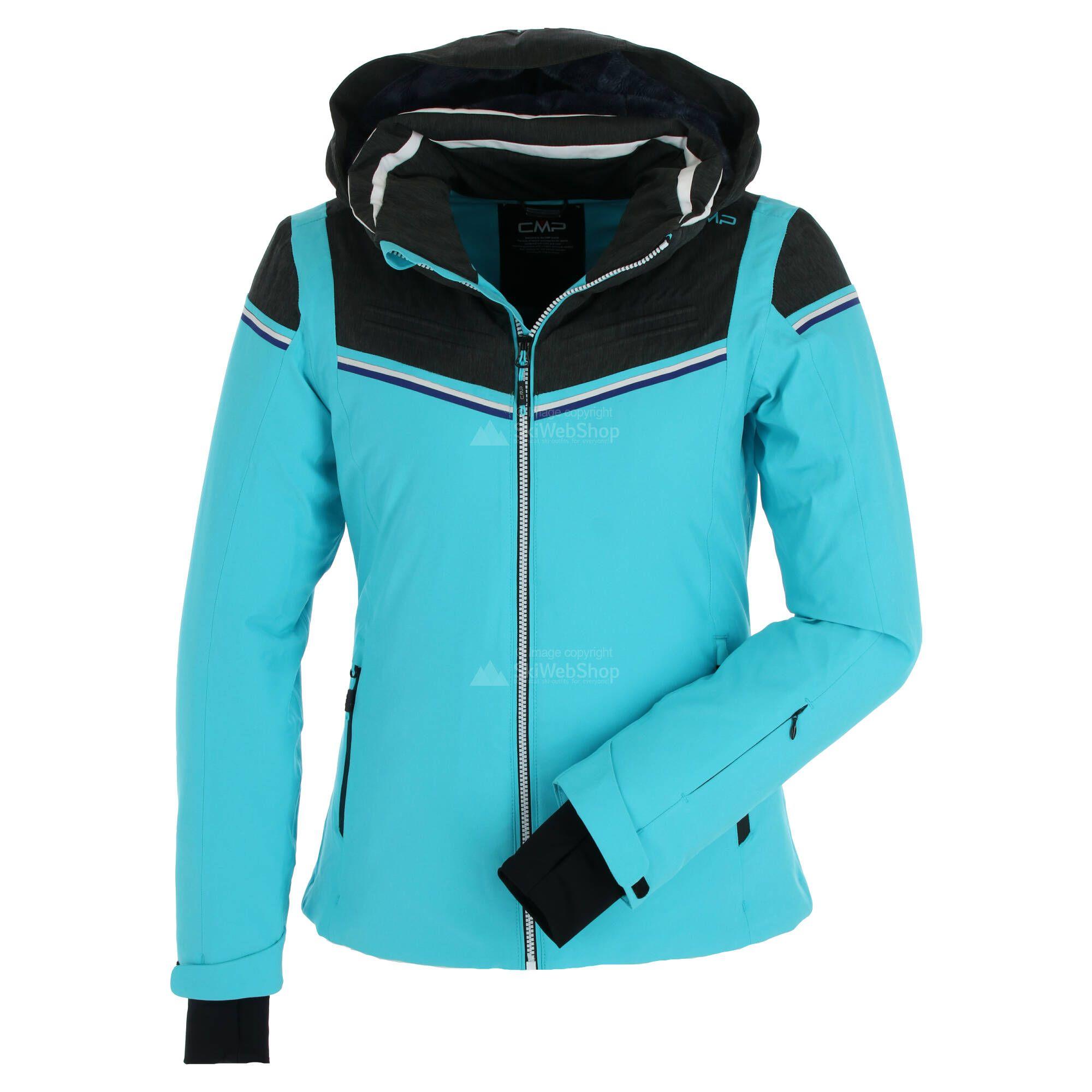 CMP, Ski jacket zip hood Skijacke Damen turchese blau