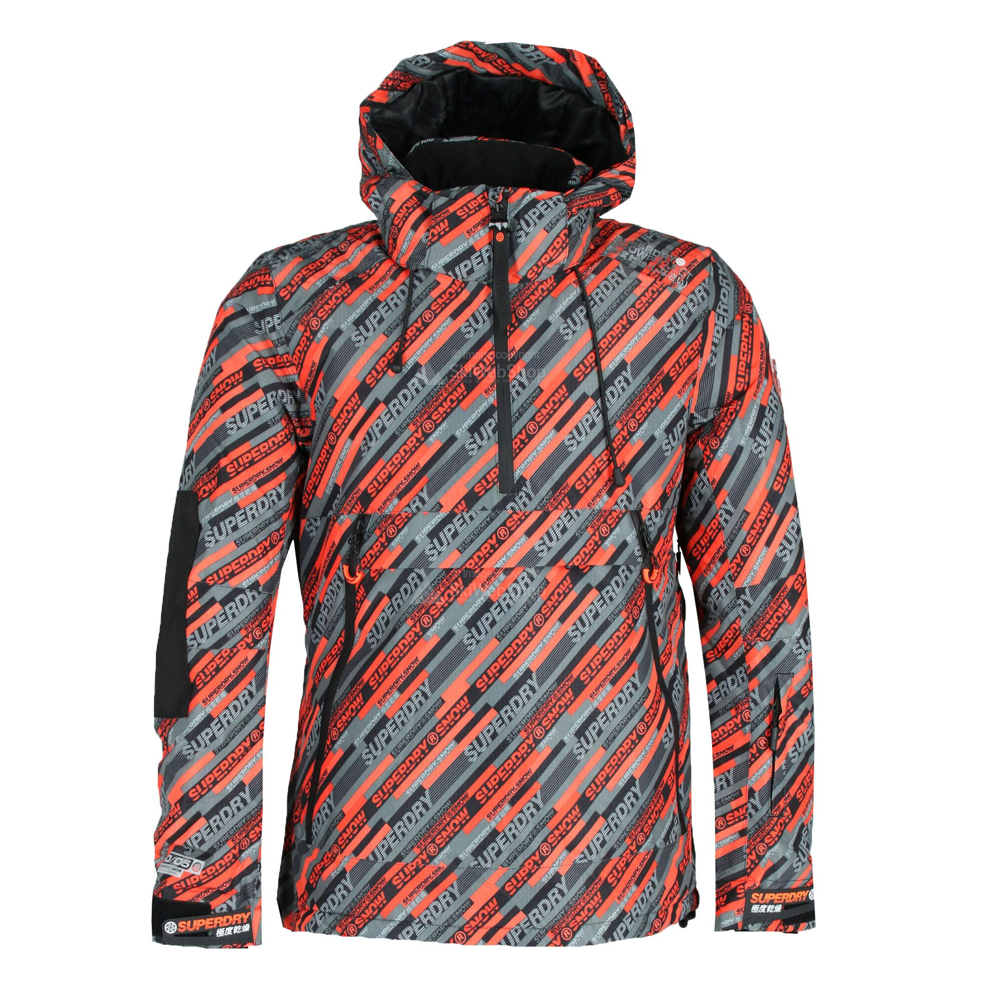 SUPERDRY SD Mountain Overhead Skijacke für Herren Orange